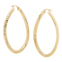 Bronzoro Italia Oval Wave Hoop Earrings