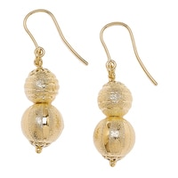 Bronzoro Italia Double Bead Drop Earrings