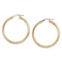 Bronzoro Italia Round Hoop Earrings