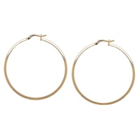 Bronzoro Italia Square Tube Hoop Earrings