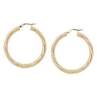 Bronzoro Italia Twisted Hoop Earrings