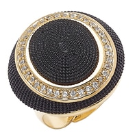 Bronzoro Italia CZ Textured Dome Ring