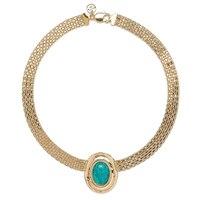 Bronzoro Italia Turquoise Centre Bismark Necklace