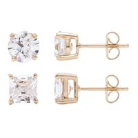 TYCOON for Diamonelle Sterling Silver Round Stud Earrings