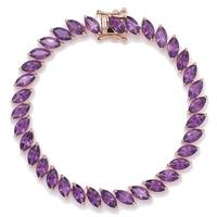 Gem RoManse 14K Gold Vermeil Marquise Gemstone Bracelet