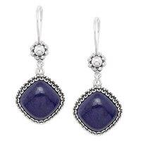 Ottoman Silver Sterling Silver Gemstone Drop Earrings