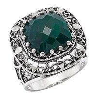 Ottoman Silver Sterling Silver Gemstone Cushion Cut Ring
