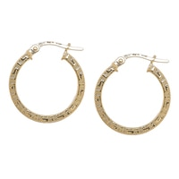 Uno A Erre 18K Yellow Gold Greca Hoop Earrings