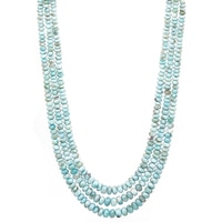 Three-Strand Larimar Bead Necklace
