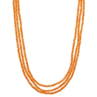 3-Strand Carnelian Bead Necklace