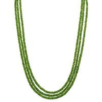 3-Strand Chrome Diopside Bead Necklace