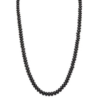 Gem Finds Black Tourmaline Bead Necklace
