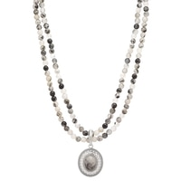 Gem Finds Quartz Gemstone Beaded Necklace