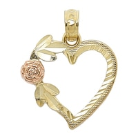 International Gold 10K Yellow Gold Heart Charm