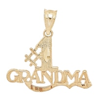 Breloque en or jaune 10 ct avec l'inscription « #1 Grandma » de International Gold