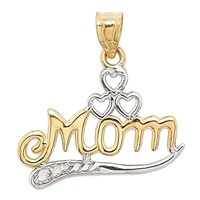 International Gold 10K Yellow Gold Mom Charm