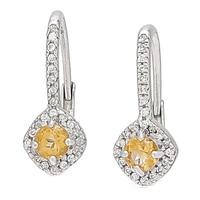 Sterling Silver 4mm Citrine Earrings