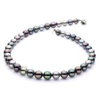 Collier de perles tahitiennes naturelles multicolores sur argent sterling de Imperial Pearls