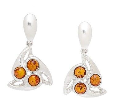Amber Extraordinaire Sterling Silver Swing Earrings