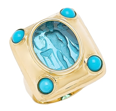 Vicenza Gold by Tagliamonte 14K Yellow Gold Venetian Cameo Cupid Ring