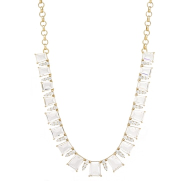 Roberto by RFM Clear Crystal Statement Necklace