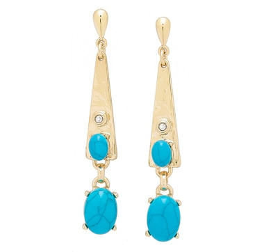 R.J. Graziano Triangular Drop Turquoise Earrings