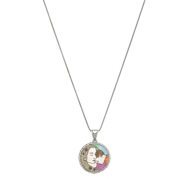 Samuel B. Collection Sterling Silver Mother & Child Pendant with Chain