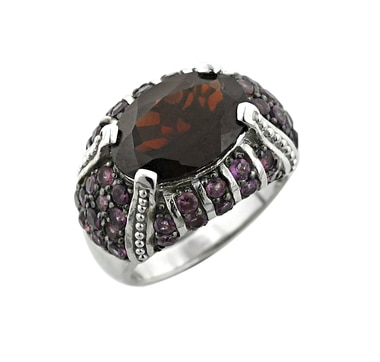 Sterling Silver Garnet and Rhodolite Ring