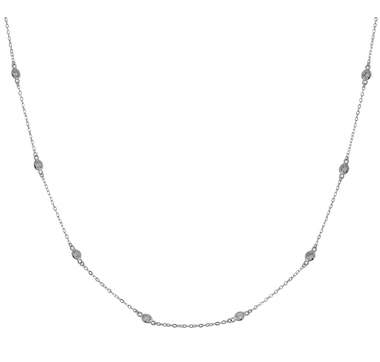Diamonelle Sterling Silver Celebration Necklace