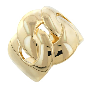 Sterling Silver & Gold Plate Intertwined Ring