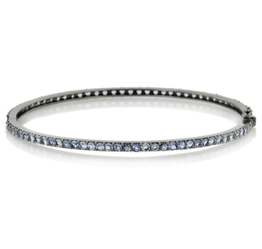 Sterling Silver Tanzanite Bangle
