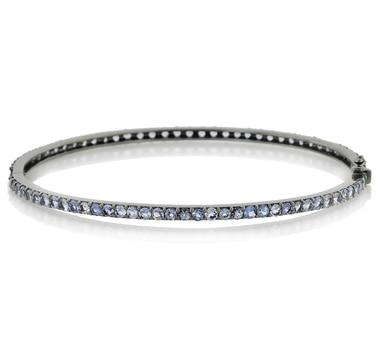 Bracelet en argent sterling orné de tanzanites