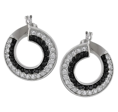 Sterling Silver Diamonelle Hoop Earrings Earrings