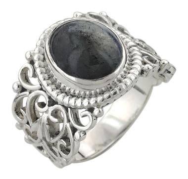 Himalayan Gems Sterling Silver Bi Colour Star Tanzanite Ring