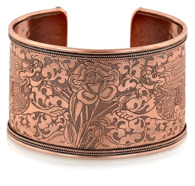 Himalayan Gems Hand Engraved Copper Cuff