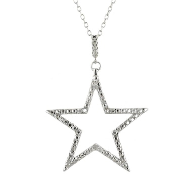 Sterling Silver Diamond Accent Pendant with Chain