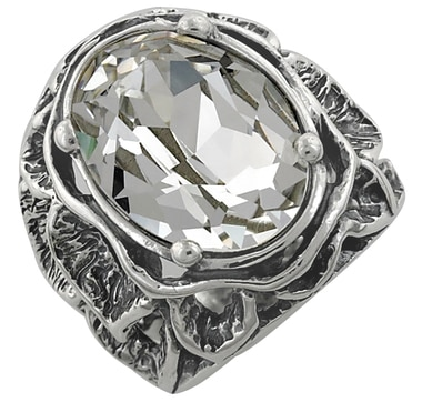 M.A.D.E. Jewellery Sterling Silver Austrian Crystal Ring