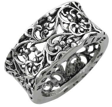 M.A.D.E. Jewellery Sterling Silver Concave Ring