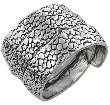 M.A.D.E. Jewellery Sterling Silver Textured Wrap Ring