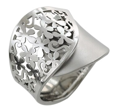 Sterling Silver Rhodium Plate Ring