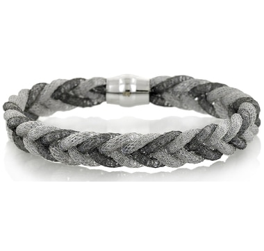 Sterling Silver Braided Bracelet with Magnetic Closure