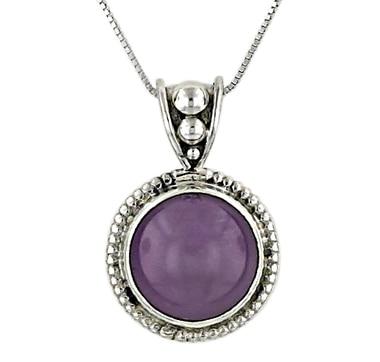 Himalayan Gems Sterling Silver Phosphosiderite Pendant & Chain
