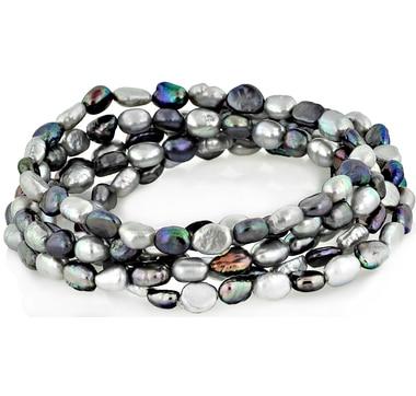 Set of 5 Freshwater Pearl Bracelets