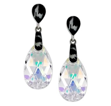 Boucles Sigal Style en argent sterling à cristaux autrichiens