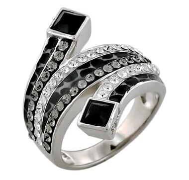 Sigal Style Austrian Crystal & Enamel Wrap Ring