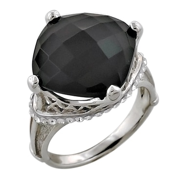 Sigal Style Sterling Silver Black Onyx Eiffel Tower Ring