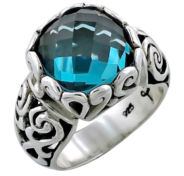 Samuel B. Sterling Silver London Blue Topaz Ring