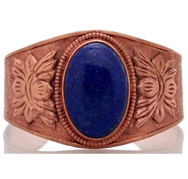 Himalayan Gems Lapis Copper Cuff Bangle