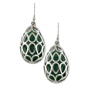Interchangeable Gemstone Sterling Silver Earrings - Set of 5
