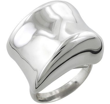 Uno A Erre Artformed Sterling Silver & Rhodium Plate Ring